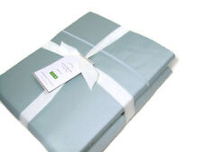 Pottery Barn 350 Thread Count Grayish Blue Cotton Sateen Queen Sheet Set New