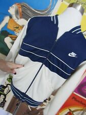 Vtg Nike Jacket S M 70s 80s Blue Tag Bomber Varsity Color Block Striped Cuff mod