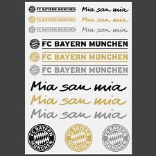 Aufkleber FC Bayern München 15er Aufkleberkarte Schwarz Gold Silber mia san mia