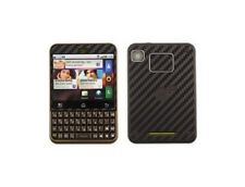 Skinomi Carbon Fiber Skin + Screen Protector for Motorola Charm