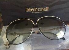 Authentic Roberto Cavalli Aviator Gold Black Very Light Sunglassses + Paper Box