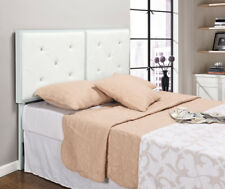 Kings Brand Furniture White Metal Queen Size Tufted Design Upholstered Headboard