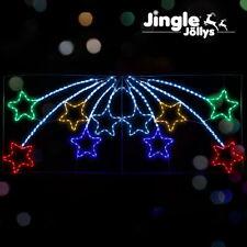 Jingle Jollys Christmas Motif Lights LED Star Fall Light Waterproof Outdoor Xmas