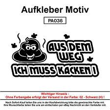 AUS DEM WEG  - Autoaufkleber Aufkleber Fun Spaß Sticker Lustige Sprüche