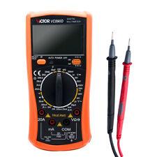 Victor DIGITAL VC890D MULTIMETER VOLT AMP METER ELECTRICAL TESTER WITH PROBES UK