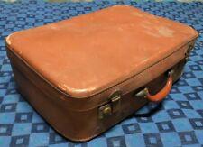 ancienne valise rétro vintage Rigide Marron H 16 L 55 l 38 cm #77