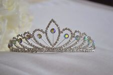 Tiara bride wedding bridesmaid silver-toned jewelled elegant diamante pearl (6)