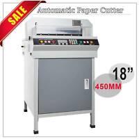 """18"""" 450mm Electric Paper Cutter Numerically Controlled Cutting Machine"""