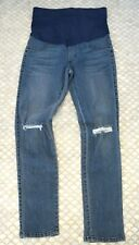 James Jeans Twiggy Maternity Distressed Throwback Legging Blue Sz 25 NEW!! $176