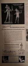1941 Mens Coopers Jockey Underwear Faun Infant Bacchus Roman Statue Ad