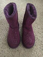 UGG Classic Constellation Boot Big kid size 5 Purple Wine Silver