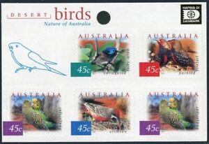 Australia 1995h pane,MNH. Hafnia-2001.Variegated fairy wren,Fire-tail,Chat