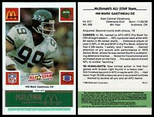 MARK GASTINEAU #99 - 1986 McDONALDS ALL-STAR GREEN TAB  MINT - NEW YORK JETS DE