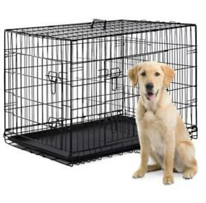 Qpets New Large 30''x 19''x 22'' Dog Cage For under 45LB Dog