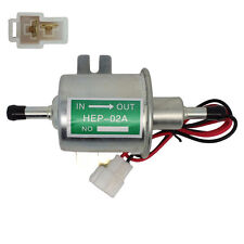 12V Inline Fuel Pump Electric Low Pressure - Gas Diesel - HEP02A - New