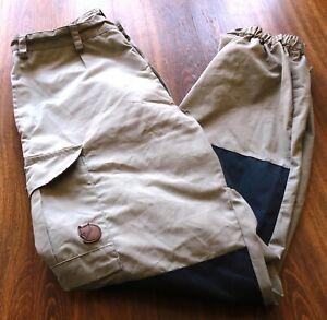 Fjallraven Fjällräven size 42/W33 G1000 Women's Pants Beige & Black