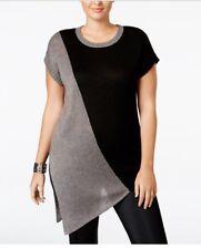 Whitespace Trendy Plus Size Asymmetrical Sweater Size 1x $98