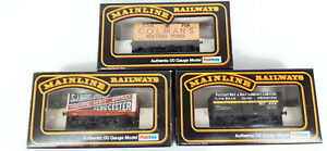 MAINLINE PRIVATE OWNER OPEN WAGONS X 3 (LOT 30) VERY GOOD CONDITION BOXED OO(UQ)