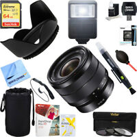 Sony 10-18mm f/4 Wide-Angle Zoom E-Mount Lens + 64GB Ultimate Kit