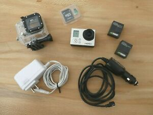 GoPro HERO 3 Black cam 64gb microSD waterproof case batteries chargers adapter