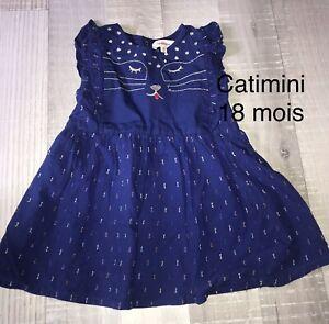 Catimini 18 MOIS Fille: robe bleue tigre lion Été 2020 Sauvage