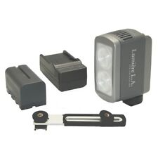 Lumiere L.A. L60323 DUO LED 5500K Portable White Daylight Video Light Kit