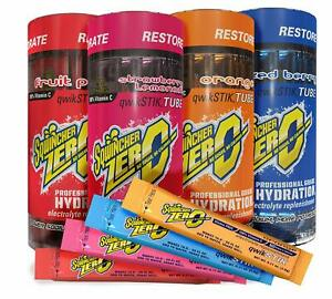 Sqwincher ZERO Sugar Free Electrolyte Powder Beverage MIXED Qwik Stik 4 Pack