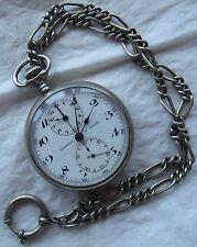 Contetout Rare Chronograph Pocket watch open face 51 mm. in diameter