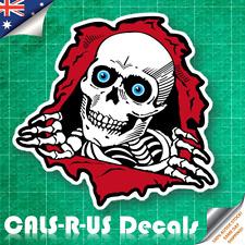 Zombie Skeleton Skull Rip Flesh Luggage Sticker Skateboard Guitar Scooter Phone