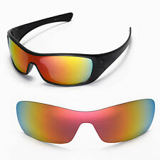 New Walleva Fire Red Replacement Lenses For Oakley Antix Sunglasses