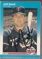 Minnesota Twins JEFF REED autographed 1987 Fleer