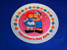 Vintage Raggedy Ann & Andy Valintine's Day 1978 Collectors Plate by Schmid