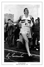 ROGER BANNISTER 4 MINUTE MILE SIGNED PHOTO PRINT