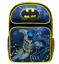"""New Batman Large Backpack School Bag 16"""" Licensed by DC Comics New with Tag"""