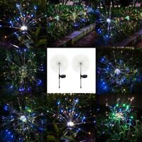 Solar Power 105LED Starburst Fairy Firework String Light Christmas Decor Lamp
