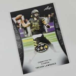 Trevor Lawrence Leaf 2018 Rookie RC #55 Clemson Tigers Draft Pick Sports Card