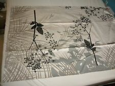 Beauville French Tablecloth 8 Napkin Caucase Graphite Table Linen Made in France