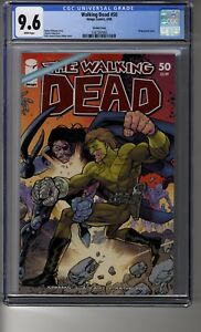 Walking Dead # 50 1:50 Superhero RI (Erik Larsen) - CGC 9.6 WHITE Pages