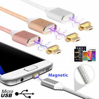 Câble USB Chargeur Magnétique iPhone 5 6 7 8 Samsung S5 S6 S7 Type C S8 A5 2017