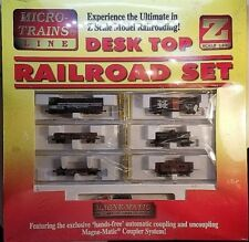 Sealed Micro Trains Z Scale NYC F7 Desk Top Railroad Set NIB