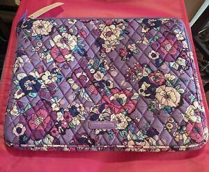 Vera Bradley Enchanted Garden LAPTOP SLEEVE Cover Case Bag Purple Pink