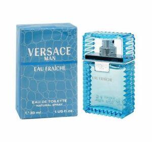 Versace Man Eau Fraiche 1.0 oz EDT spray mens cologne 30 ml NIB