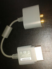 * XBOX 360 Official Microsoft 360 GREY AUDIO ADAPTER *