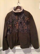 Tag Safari Outdoor Clothing Full Zip FLEECE GREEN Camo Jacket Men's Size 2XL