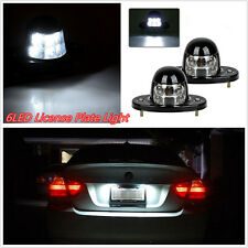 One Pair 12V 3W 6-LED White Car Pickup License Plate Lights Boat Courtesy Lamps