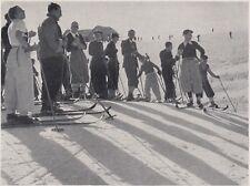 D8465 Scuola Nazionale di Sci di Cortina - Gruppo di allievi - 1936 stampa