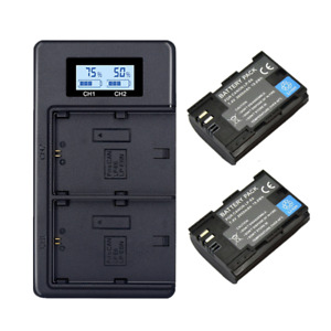 2x LP-E6 Battery+LCD Dual Charger for Canon EOS 5DS R 5D Mark II 5D Mark III 6D