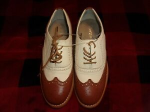 Wanted Shoes Women's Babe Oxford, Tan/Natural Size 8 New (B249)