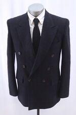 navy windowpane EVAN PICONE blazer jacket double breasted tweed sport coat 38 R
