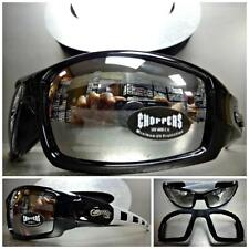 MOTORCYCLE BIKER RIDING DRIVING PADDED Choppers SUN GLASSES GOGGLES Black Frame